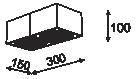 Cleoni Tuz T019X2Sh Plafon Czarny 116