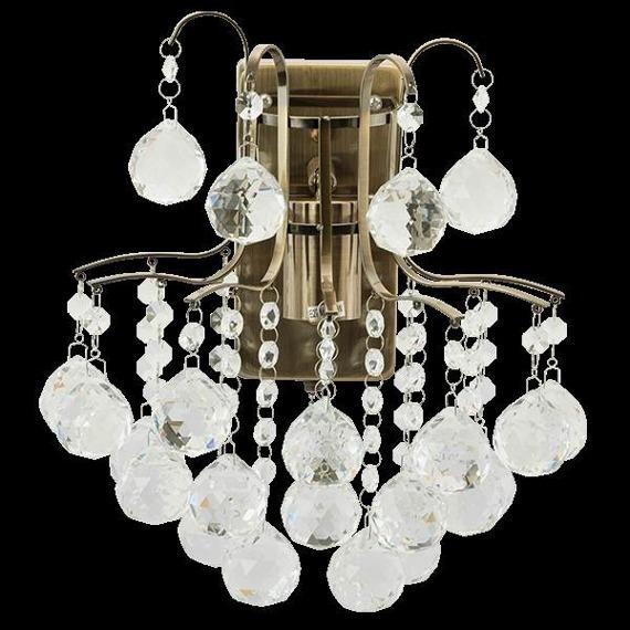 Lampa Ścienna kryształowa Elem Monte Carlo 6247/1 21QG mosiądz