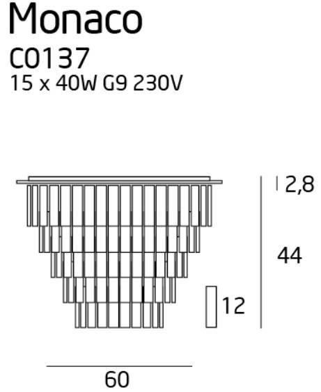 Lampa Sufitowa Maxlight Monaco C0137