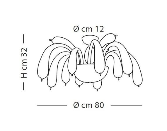 Lampa Sufitowa Sillux REDENTOR LS 5/254 transparentna