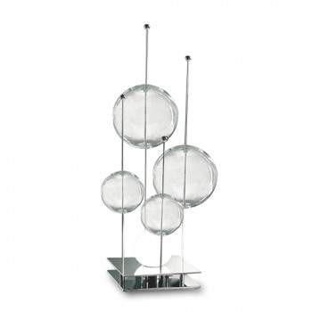 Lampka Stołowa Sillux NIAGARA LT 1/236 10/31 przezroczysto-chromowana
