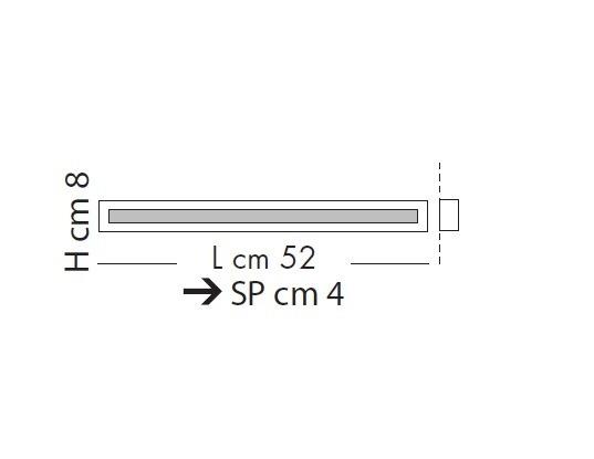Male-Line Lampa Sufitowa LED 52 cm Sillux chrom