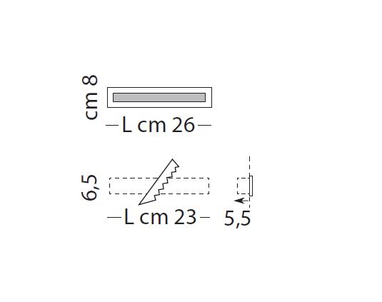 Male-Line Oprawa Wpuszczana LED 26 cm Sillux